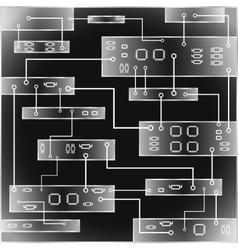 Electrical circuit eps 10 vector