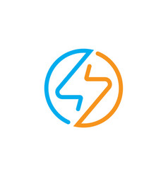 electrical logo vector image