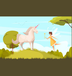 fairy tale background vector image