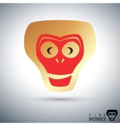 Fire monkey icon vector