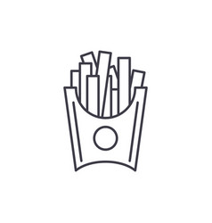 french fries line icon concept french fries vector image