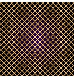 Gold lattice on black background vector