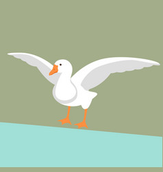 goose flat style front s vector image