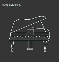Grand piano icon line element vector