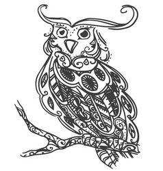 hand drawn sketch of owl bird vector image