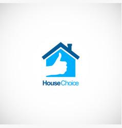 house choice like logo vector image