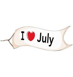 I love July vector