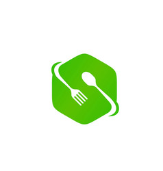 initial s for food restaurant icon logo vector image