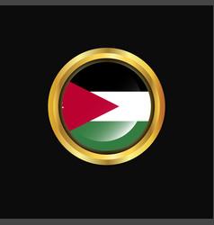 jordan flag golden button vector image