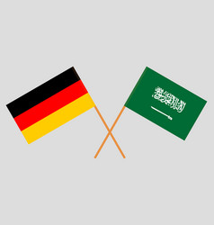Kingdom of saudi arabia and germany flags vector