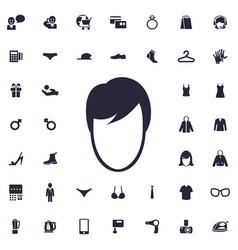 Man face icon vector