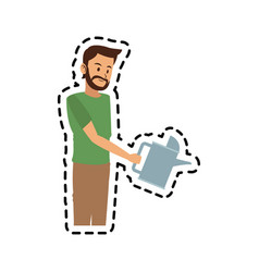 man with watering can icon image vector image