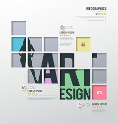 Modern infographics squares template for business vector