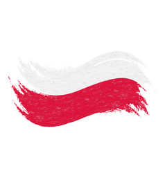 National flag of poland designed using brush vector