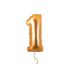 number one foil balloon vector image