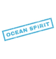 Ocean Spirit Rubber Stamp vector image