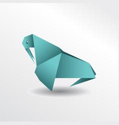 origami walrus vector image