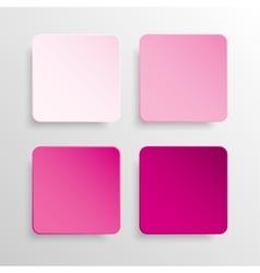 Paper Banner Pink Mockup Square vector image