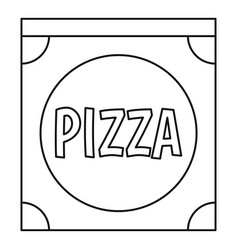 Pizza box icon outline style vector