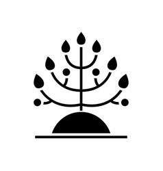 plant - biology icon black vector image