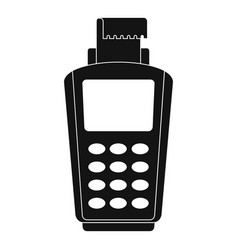 pos terminal icon simple style vector image