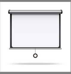 realistic 3d detailed white blank projector screen vector image