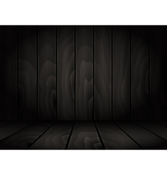 Realistic dark wooden board background vector image