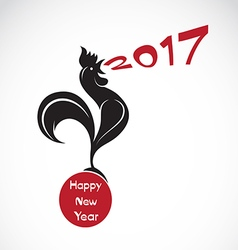 Rooster 2017 new year card vector image