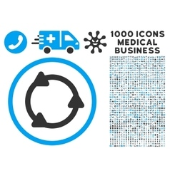 Rotate Icon with 1000 Medical Business Pictograms vector image