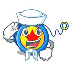 sailor yoyo character cartoon style vector image