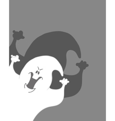 Scary ghost Halloween poster background card vector image