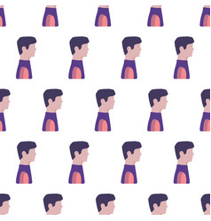 Seamless pattern with men flat vector