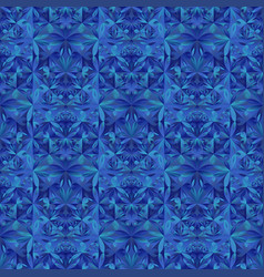 Seamless polygonal abstract mosaic floral pattern vector
