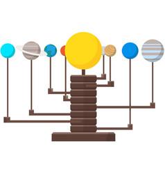 Solar system copernicus desktop model vector