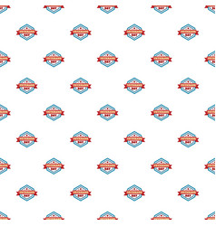 star veterans day pattern seamless vector image