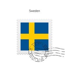 Sweden flag postage stamp vector