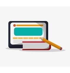 Tablet and social media design vector