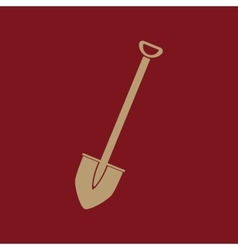 The shovel icon Spade symbol Flat vector image