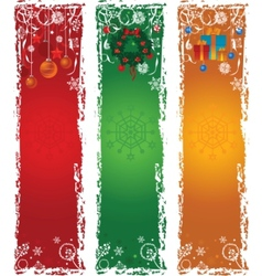 three vertical christmas banners vector image