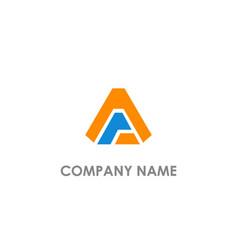 triangle shape a logo vector image