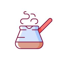 Turkish coffee pot rgb color icon vector