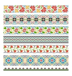 ukrainian ethnic national border patterns vector image
