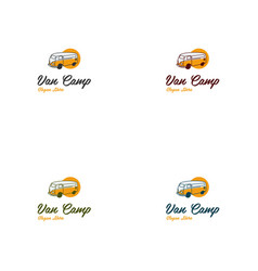 Van travel vacation creative logo vector