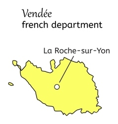Vendee french department map vector