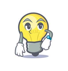 Waiting light bulb character cartoon vector