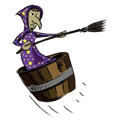 Witch isolated on white background vector image