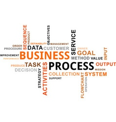word cloud business process vector image