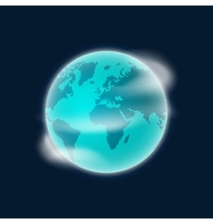 Earth planet globe isolated on vector image