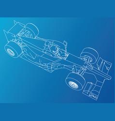 formula race car abstract drawing tracing vector image