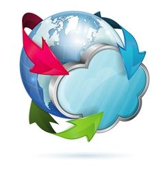 Global Access and Cloud Computing Concept vector image vector image